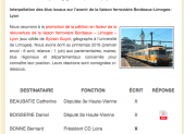 Bordeaux-Lyon : un tableau pour suivre les réactions des élus